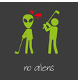 killing alien golf sport design banner and vector image