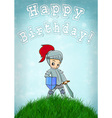 knight card happy birthday vector image vector image