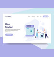 landing page template gas station concept vector image vector image