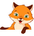 little fox vector image vector image
