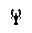 Lobster Icon Flat vector image vector image