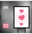 Love heart valentine vertical light vector image vector image
