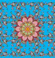 mandala colored round ornament pattern on a blue vector image