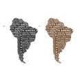 map of continent south america vector image