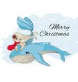 merry christmas vacation new year color vector image vector image