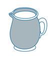 milk pitcher icon vector image vector image