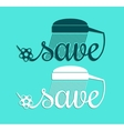 Minimal style save water symbol template vector image vector image