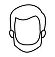 monochrome contour of faceless man with short hair vector image vector image