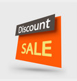 orange sale element on white vector image vector image