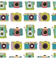 Photo cameras pattern Hand drawn vector image vector image