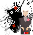 Pouting Lady Cartoon vector image