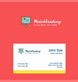 presentation chart logo design with business card vector image vector image