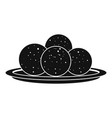 propolis sphere icon simple style vector image vector image