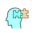 puzzle and head design vector image