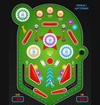 realistic 3d pinball composition vector image vector image