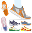 Running shoes set vector image vector image