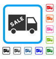 sale van framed icon vector image