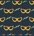 seamless pattern of a mask for mardi gras vector image vector image