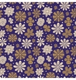 Seamless texture of painted flowers on a purple vector image vector image