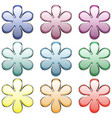 set flowers buttons vector image vector image
