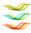 Set of color wave vector image vector image