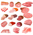 Set of different kinds of meat vector | Price: 3 Credits (USD $3)