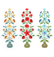 set of flower bouquets vector image vector image