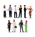 set of muslim men and women vector image vector image