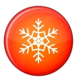 Snowflake icon flat style vector image vector image