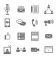 Social media black icons set vector image