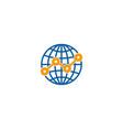 stats globe logo icon design vector image