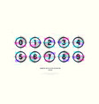 stock decorative numbers in round frames vector image vector image