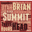Summit At Brian Head In Utah text background