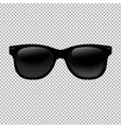 sunglasses in transparent background vector image
