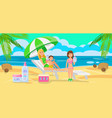 sunscreen for whole family vector image vector image