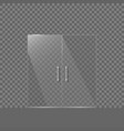 transparent glass door vector image
