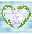 Tulip save the date card EPS 10 vector image vector image