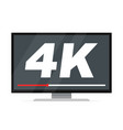 tv with 4k ultra hd video technology vector image