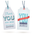 vintage thank you tags vector image vector image