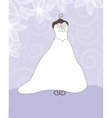 Wedding background with dress vector image vector image