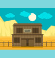 western saloon concept background flat style vector image