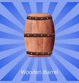 wooden barrel for long term tasty wine storage vector image vector image