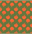 apple green orange seamless pattern background vector image
