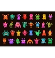 Big collection of cartoon funny monsters vector image