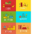 Flat room furnishing color vector image