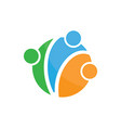 people group community colored logo image vector image