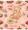 coffee shop pattern vector image