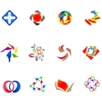 12 colorful symbols set 14 vector image vector image