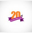 20 anniversary company logo vector image