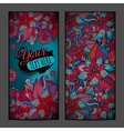 Abstract decorative floral vertical backgrounds vector image vector image